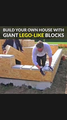 Build Your Own Cabin, Building A Small Cabin, Building A House, Up House, Lego House, Diy Wood Projects, Home Projects, Diy Home Repair, Cool Inventions