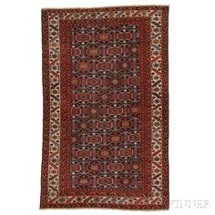 Malayer Area Rug, Iran, c. 1920, with Afshar design, 6 ft. 6 in. x 4 ft. 2 in. | Skinner Auctioneers Sale 2884B