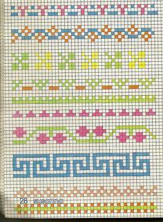 Cross Stitch Cards, Cross Stitch Borders, Cross Stitch Alphabet, Counted Cross Stitch Patterns, Blackwork, Chicken Scratch Embroidery, Palestinian Embroidery, Tapestry Crochet, Knitting Charts