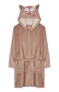 Primark - Younger Girl Owl Dressing Gown