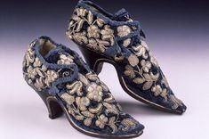 These shoes, or a pair very similar, were worn during the celebrations that took place in 1660 to celebrate the restoration of Charles II. Lady Mary was the wife of Sir John Stanhope of Elvaston Castle in Derbyshire