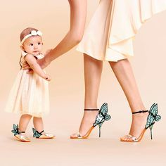 Sophia Webster 'Chiara' heels with matching shoes on the baby