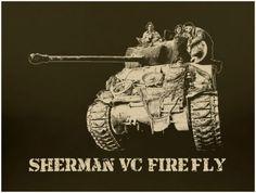 Sherman Firefly Tank WWII T Shirt British M4 D-Day M18 Patton ASL FOW 1/35