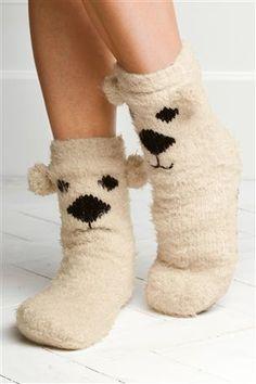 Polar Bear Slipper Socks Cute and cosy to keep feet warm Bear Slippers, Slipper Socks, Pyjamas, Corsets, Cosy Socks, Silly Socks, Fluffy Socks, Novelty Socks, Winter Warmers