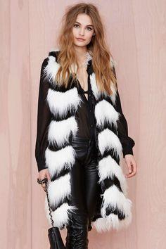 Glamorous Opposition Faux Fur Vest
