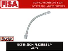 EXTENSION FLEXIBLE 1/4 4765. Vastago flexible de 3 3/4, accede en lugares dificiles- FERRETERIA INDUSTRIAL -FISA S.A.S Carrera 25 # 17 - 64 Teléfono: 201 05 55 www.fisa.com.co/ Twitter:@FISA_Colombia Facebook: Ferreteria Industrial FISA Colombia