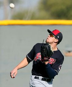 Cleveland Indians outfielder prospect Bradley Zimmer, at spring training in Goodyear, Arizona on Feb. 20, 2017. (Chuck Crow/The Plain Dealer)