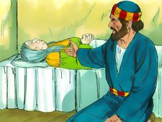 Free Bible illustrations at Free Bible images of a kind woman Tabitha, also known as Dorcas, who died but when Peter prayed was miraculously raised to life. (Acts 9:36-43): Slide 9