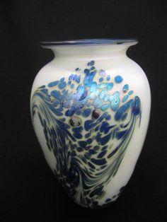 Robert Eickholt Art Glass Vase