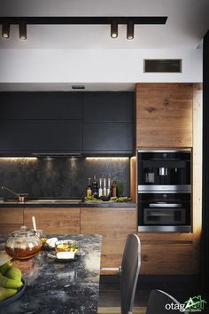 Modern Dark Kitchen - Галерея kitchen decor The 20 Best Ideas for Modern Kitchen Design - Best Home Ideas and Inspiration Kitchen Room Design, Kitchen Cabinet Design, Home Decor Kitchen, Interior Design Kitchen, Kitchen Ideas, Diy Kitchen, Rustic Kitchen, Kitchen Hacks, Awesome Kitchen