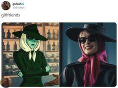 """kill all men"" —probably poison ivy Gotham Girls, Gotham Batman, Batman Art, Batman Robin, Lesbian Art, Dc Memes, Joker And Harley Quinn, Detective Comics, Poison Ivy"