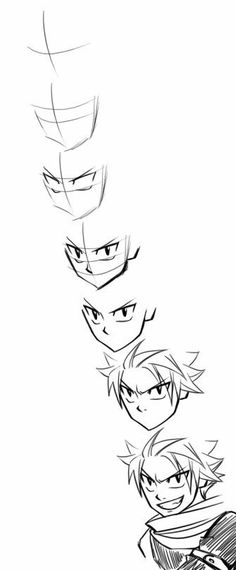 Online shopping for Fairy Tail with free worldwide shipping Natsu Drawing, Fairy Tail Drawing, Arte Fairy Tail, Fairy Tail Anime, Manga Drawing, Manga Art, Fairy Tail Natsu And Lucy, Fairy Tail Characters, Anime Sketch