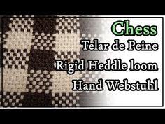 Telar de Peine Punto Chess Pattern Rigid Heddle Loom Hand Webstuhl Muster Lana Wolle - YouTube