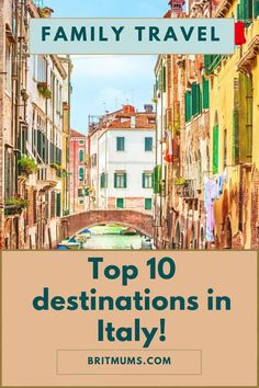 Italian ex-pat gives her tips on the best places to holiday in Italy with the family! It includes beautiful places to go, a guide and itinerary and more on Italy travel! #italy #italytravel #familytravel #britmums Italy Holiday Destinations, Top 10 Destinations, Great Places, Beautiful Places, Places To Visit, Italy Holidays, Great Pictures, Travel Goals, Day Trip