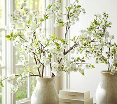 Faux Oversized Cherry Blossom Branch #potterybarn