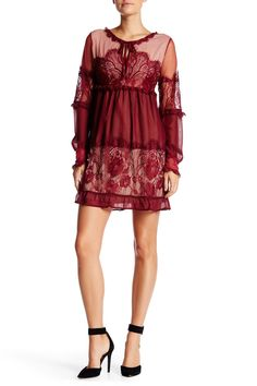 Peek-A-Boo Lace Dress by Romeo & Juliet Couture on @nordstrom_rack