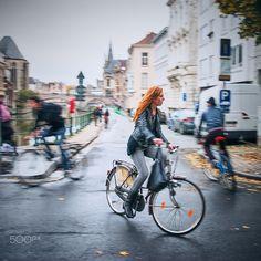 Cycling in Ghent by cristianlee #ErnstStrasser #Belgien #Belgium Cycling, Bicycle, Street View, Belgium, Biking, Bike, Bicycle Kick, Bicycles, Bicycling