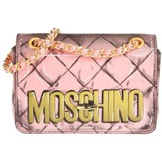 Moschino Pop Art Calf Leather Pochette Pink in rose, Shoulder Bags ($825) ❤ liked on Polyvore featuring bags, handbags, shoulder bags, rose, man bag, pink handbags, pink hand bags, moschino shoulder bag and handbag purse