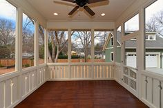 Screened Porch.  ideas for walls and ceiling.