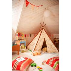33 Cool Kids Play Rooms With Play Tents ❤ liked on Polyvore featuring houses, babies, bedrooms, casas and home