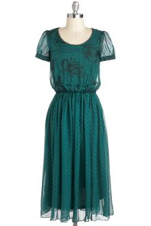 Modcloth Blossoms and Breeze Dress in Green