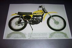 74 YAMAHA MX 175 MOTOCROSS DIRT BIKE POSTER MX175 yz >> vintage motorcycle