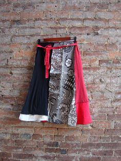 Recycle t-shirt skirt