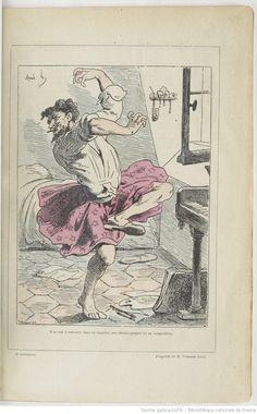 La Vie de bohême de Henry Murger,    doing a dance of his own design