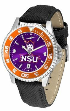 Northwestern State University Demons Competitor Anochrome- Poly/leather Band W/ Colored Bezel - Men's by Sports Memorabilia. $78.73. Makes a Great Gift!. Northwestern State University Demons Competitor Anochrome- Poly/leather Band W/ Colored Bezel - Men's