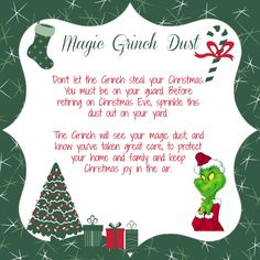 Craft: Magic Grinch Dust