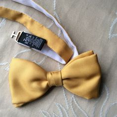 Gold silk bow tie Tie Rack by coolclobber on Etsy