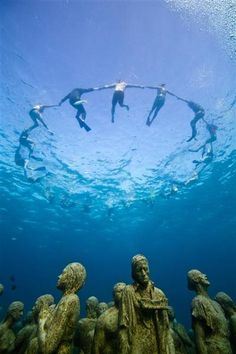 A haunting underwater tableau to highlight the need for urgent action to tackle climate change, Cancun.