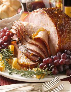 Apricot-Glazed Ham with Garlic, Mustard and Rosemary