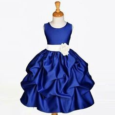 A navy blue frock for your kids