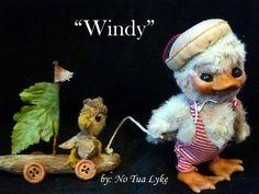 "ooak baby miniature  fairy duck duckling  woodland sprite by No Tua Lyke ""Windy"""