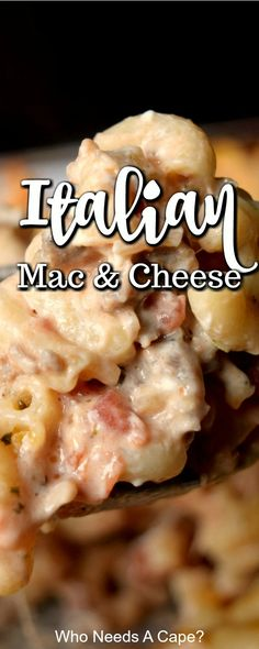 Mix up your dinner routine and make Italian Mac & Cheese! Loaded with cheesy goodness & comforting flavors your family loves. Mac Cheese Recipes, Pasta Recipes, Dinner Recipes, Cooking Recipes, Loaded Mac And Cheese Recipe, Top Recipes, Dinner Ideas, Good Food, Yummy Food