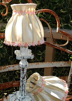 Vintage French Boudoir Lamp Shades