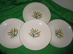 1950s Royal Harvest Dinner Plates Homer Laughlin by ChinaGalore