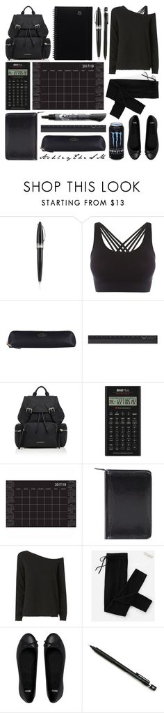 """""""Finals Week 📓"""" by ashleythesm ❤ liked on Polyvore featuring Pineider, Pepper & Mayne, Smythson, Midori, Burberry, Brewster Home Fashions, Scully, RtA, Everlane and ASOS"""