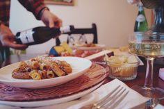 Birthday Luncheon at Home, Bacon Carbonara - Wanderlust Frontier