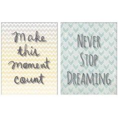Make This Moment Count/Never Stop Dreaming Wall Art, 24 inch x 12 inch, Multicolor