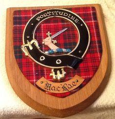 Vintage c.1950s Clan MacRae Official Clan Tartan by BuyfromGroovy