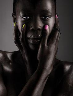 Her skin looks like silk.