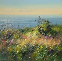 British Artist Rex PRESTON - Summer Afternoon, Rosewall Hill, near St. Ives
