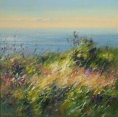 British Artist Rex PRESTON-Summer Afternoon, Rosewall Hill, near St. Ives