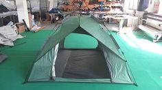 Waterproof 3 Man Single Layer Automatic Camping Tent