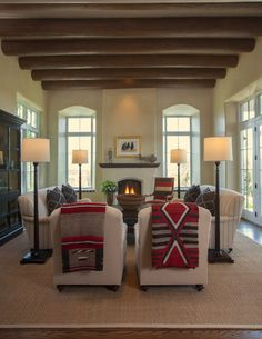 southwest modern living room by Violante & Rochford Interiors, photo credit © Wendy McEahern