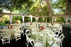 This would be a dream come true! [Clear Wedding Tent and Tables by Loane Brothers]