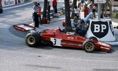 Jacky Ickx, Ferrari, 1973 Monte Carlo Grand Prix.
