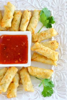 A surprisingly simple recipe for Shrimp Rolls with Homemade Plum Sauce. These won't last long at a party, so get yours early on! | The View from Great Island